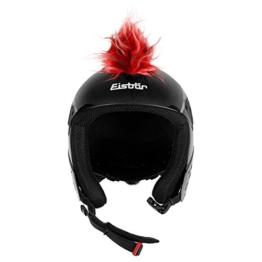 Eisbär Irokese Helm Helmdekoration selbstklebend (One Size - rot) -