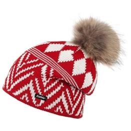 Eisbär Merve Strickmütze Bommelmütze Bommelmütze Damenmütze (One Size - rot) -
