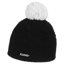 Eisbär Mütze Jamie Pompon, Schwarz/White, One Size, 407520 -