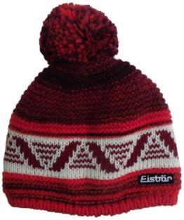 Eisbär Mütze Multi Pompon, roteffekt/milk/burgund, 387706 -