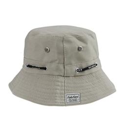 FakeFace Damen Frauen Verstelltbare & Faltbar Hut Kappe Fischerhut Sonnenhut Strandhut aus Baumwolle Sonnenschutz Anti-UV -