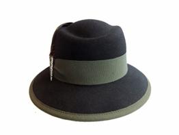 Faustmann Damen Trachtenhut Wollfilz 315298 schwarz- grün -
