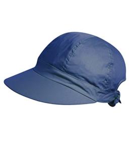 Fiebig Damenmütze UV-Schutz Kappe mit Schild Schirmmütze Sommermütze Schildmütze Freizeitmütze uni für Frauen (FI-67332-S16-DA1-16-One Size) in Marine, Größe One Size inkl. EveryHead-Hutfibel -