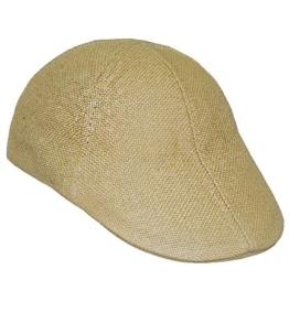 Fiebig Herrenflatcap Flatcap Strohhut Strohkappe Papierhut Basthut Schiebermütze Gatsby Schirmmütze einfarbig für Männer (FI-16528-S16-HE0-4-58) in Beige, Größe 58 inkl. EveryHead-Hutfibel -