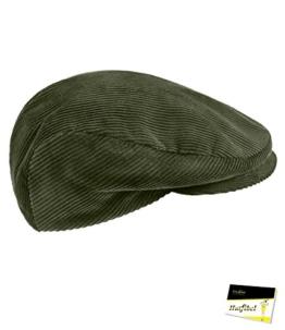 Fiebig Herrenflatcap Flatcap Schiebermütze Schirmmütze Cordmütze Herbstmütze Wintermütze Golfermütze Mütze für Männer (FI-40790-W16-HE1-82-59) in Braun, Größe 59 inkl. EveryHead-Hutfibel -