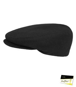 Fiebig Herrenflatcap Flatcap Schiebermütze Schirmmütze Golfermütze Herbstmütze Sportcap Gatsby einfarbig für Männer (FI-42019-W16-HE0-88-58) in Anthrazit, Größe 58 inkl. EveryHead-Hutfibel -