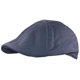 Flatcap Cap Target Miliert (L (58 cm - 60 cm), Blau) -
