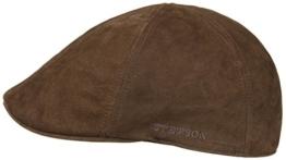 Flatcap Mütze Texas Nubuk Ledercap Stetson Ledermütze (braun) -
