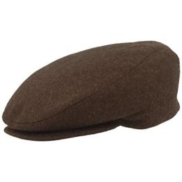 Flatcap Schirmmütze Gatsby Wollmütze Golfermütze in mehreren Farben 42019 Unisex by Fiebig - braun - 62 -