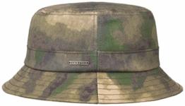 Florida Camouflage Fischerhut Bucket Hat Anglerhut Outdoorhut Waxed Cotton Baumwollhut Stetson Stoffhut Baumwollhut (M/56-57 - camouflage) -