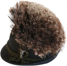 Gamsbart groß mit Hülse ohne Trachten-Hut Trachtenhut Gemse Jagd Gams Gämse -
