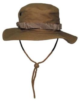 GI Boonie Hat Rip Stop Outdoor Dschungel Hut Buschhut Coyote Tan (dunkel sandfarben) L -