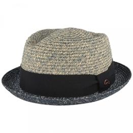 Göttmann zweifarbiger Diamond Stroh-Hut aus Papier-Stroh - blau - M -