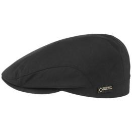 Gore-Tex Protect Light Flatcap Schirmmütze Schiebermütze Sportmütze Regenmütze Lierys für Herren Schirmmütze Wollcap mit Schirm, mit Futter, mit Schirm, mit Futter Winter Sommer (63 cm - schwarz) -
