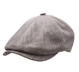 Gottmann - Flatcap Herren Memphis-675 - Size 57 cm - gris-chine-marron-38 -