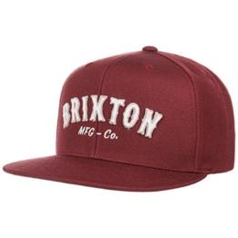 Harold Snapback Cap Flat Brim Flatbrim Basecap Baseballcap Kappe Brixton Cap Basecap (One Size - bordeaux) -