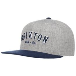 Harold Twotone Snapback Cap Flat Brim Flatbrim Basecap Baseballcap Kappe Brixton Cap Basecap (One Size - grau) -