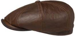 Hatteras Ballonmütze Schirmmütze Ziegenleder Glatt von Stetson (M/56-57, Braun) -