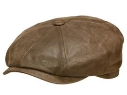 Hatteras Chevrette Leder Flatcap Stetson Gatsbycap Flatcap (60 cm - braun) -
