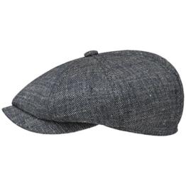 Hatteras Heritage Flatcap Schirmmütze Sommercap Sonnencap Sommermütze Herrencap Cap Kappe Stetson Leinencap Schirmmütze (59 cm - denim) -