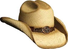 Herren Cowboy - Strohhut Rio mit Hutband S-XL(M) -