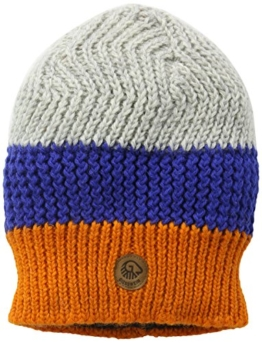 Herren Strickmütze Neunerköpfle, Gestreift, Gr. One size, Orange (mandarine 150) -