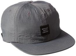 Herschel Albert Summer Nylon Cap Flatbrim Snapback Basecap Baseballcap Kappe Basecap Flatbrim Cap (One Size - anthrazit) -