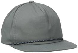 Herschel Cusak Flatbrim Snapback Cap - one size - grau -