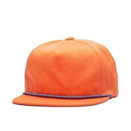 Herschel Cusak Flatbrim Snapback Cap - one size - orange -