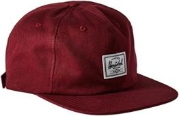 Herschel Mütze Kappe Albert Flatbrim Cap Cap Snapback Cap (One Size - bordeaux) -