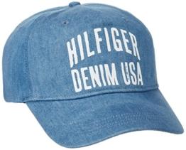 Hilfiger Denim Herren Baseball Thdm Cap 14, Blau (Mid Indigo 412), One size (Herstellergröße: OS) -