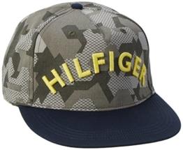 Hilfiger Denim Herren Baseball Thdm Cap 10, Mehrfarbig (Camouflage Forest Night/ Black Iris 902), One size (Herstellergröße: OS) -