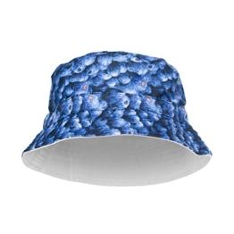 Hip-Hop Bucket-Bush Sommer- und Party-Hut mit spritzigem Design für Damen und Herren Gr. Einheitsgröße, Bluberries -