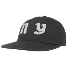 HUF Cities Strapback Cap Flat Brim Flatbrim Basecap Baseballcap Kappe Mütze Baumwollcap Cap Basecap (One Size - schwarz) -