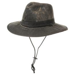 Hut Allwetter Outdoorhut Cowboyhüte Herrenhüte (XL/60-61 - braun) -