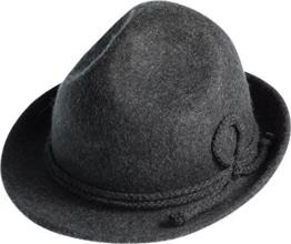 Hut mit Kordel in 2 Farben, Farben:dunkelgrau, Kopfgröße:XL -