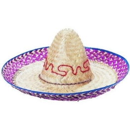 Hut Palmblätter-Sombrero mit Stickerei, ca. 52cm -
