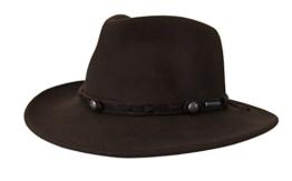 Hut Vail von Stetson in Braun Knautschhut mit braunem Hutband, Größe:L -