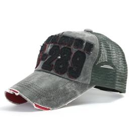 ililily Distressed Vintage Mesh Baseball Cap Snapback Trucker Hut (ballcap-440-5) -