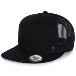 ililily Extra Big Size Solid Color New Era Style Snapback Hat Baseball Cap (ballcap-1259-1) -