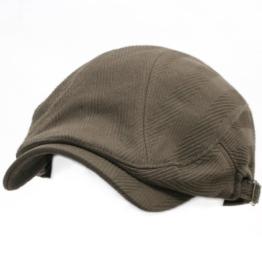 ililily Gentleman Flat Cap Cabbie Hut Gatsby Ivy Irish Hunting Newsboy Snapback (flatcap-002-2) -