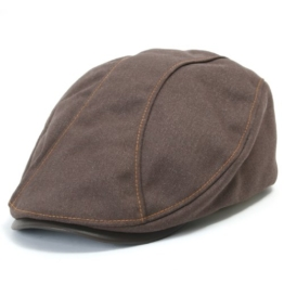ililily Leather Bill Newsboy Flat Cap Cabbie Gatsby ivy Irish Driver Hunting (flatcap-510-4) -