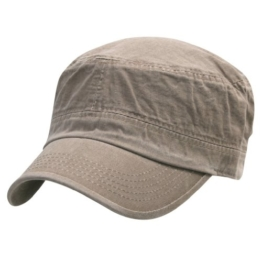 ililily Military Vintage Biker Cotton Cadet Cap Stretch Flex Back (cadet-420-2) -