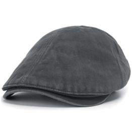 ililily Schirmmütze: auch Flat Cap genannt, besteht aus gewaschener Baumwolle, Cabbie (Chauffeurmütze), Gatsby/Ivy Stil, irische Golfermütze, Schiebermütze (One Size, Charcoal) -