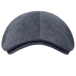 ililily Schirmmütze: besteht aus 100% Baumwolle, verfügbar in vielen Farben, Flat Cap, Cabbie (Chauffeurmütze), Gatsby/Ivy Stil, irische Golfermütze, Schiebermütze (One Size, Blue Grey) -
