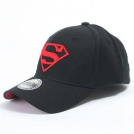 ililily Superman Baseball Cap Superman Shield Embroidery Fitted Trucker Hut (ballcap-603-3-M) -