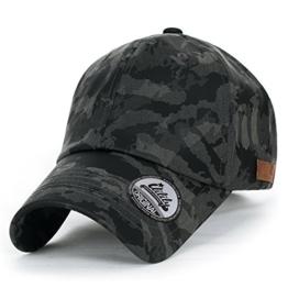 ililily Tarnkleidung (Camouflage) leicht Matt künstliches Leder klassischer Stil Kettverschnuss Schlaufe Baseball Cap , Grey -