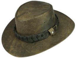 Jacaru Wild Roo Outback Kangaroo Lederhut - braun L/57-58 -