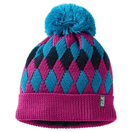 Jack Wolfskin DIAMOND KNIT CAP KIDS - dark magenta - Gr. M -