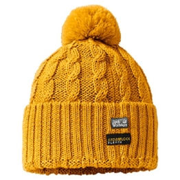 Jack Wolfskin STORMLOCK POMPOM CAP golden yellow -